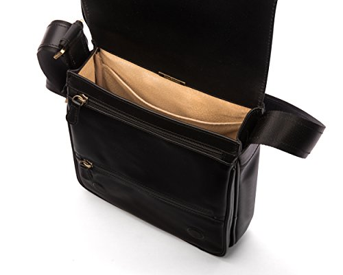 Large Portrait Bag Sagebrown Messenger Black v8wyn0mON