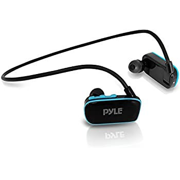 Pyle Waterproof Mp3 Player for Swimming Sports, 4 GB  Memory, Store Up to 1000 Songs | Best Wearable Tech | Simple Touch Button Controls | Rechargeable Batteries Flex Streme (PSWP6BK)