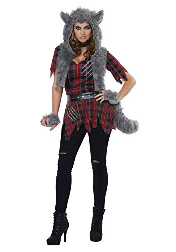 California Costumes Women's She-Wolf - Adult Costume Adult Costume, -Red/Gray, Medium -