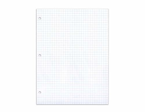 AmazonBasics Graph Ruled Loose Leaf Filler Paper, 100-Sheet, 11'' x 8.5'', 36-Pack by AmazonBasics (Image #3)