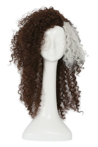 Bellatrix Lestrange Halloween Costumes (Honorshow Bellatrix Lestrange Wig Cosplay HP Costume Curly Brown Hair accessories Props Halloween)