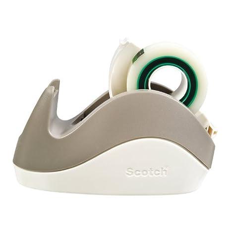 Scotch Magic Rabbit - Distributore di nastro adesivo, 1 rotolo di Scotch Magic Tape da 19 mm x 15 m incluso, colore: Grigio 3M C29-G