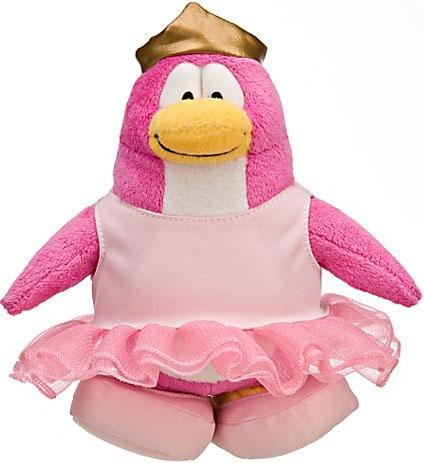 Disney Club Penguin 6.5 Inch Series 10 Plush Figure Ballerina Includes Coin with Code! (Club Penguin Plush Toys)