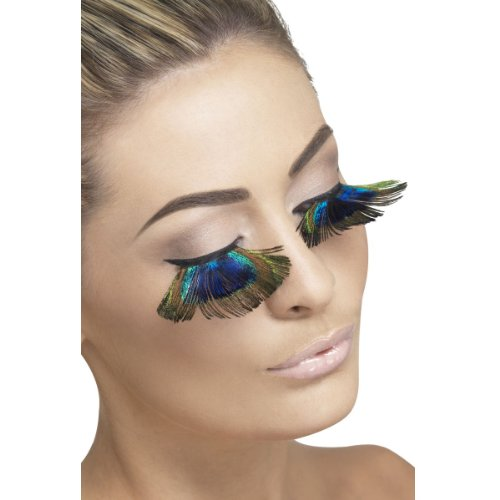 (Fever Women's Eyelashes, Peacock Feathers, Contains Glue, One Size,)