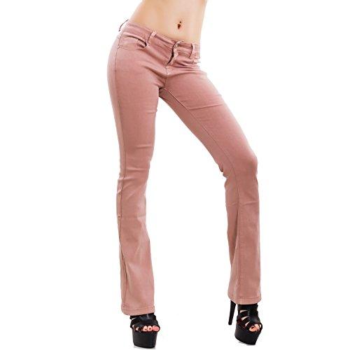 Elefante Rosa Nuovi Jeans Campana Skinny Donna Pantaloni Zampa Af108 Elasticizzati Toocool xgavpYwqY