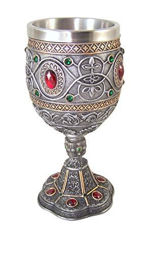 Rhinestone Jeweled Holy Grail Chalice, 6 1/2 Inch ()