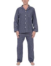 PLATINUM SPORT Men's 100% Cotton Yarn-Dyed Flannel 2 Piece Pajama Set