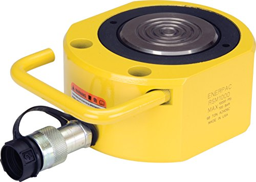 Enerpac RSM-1000 Flat Jac Single-Acting Low-Height Hydraulic Cylinder with 100-Ton Capacity, Single Port, 0.63'' Stroke Length by Enerpac (Image #1)