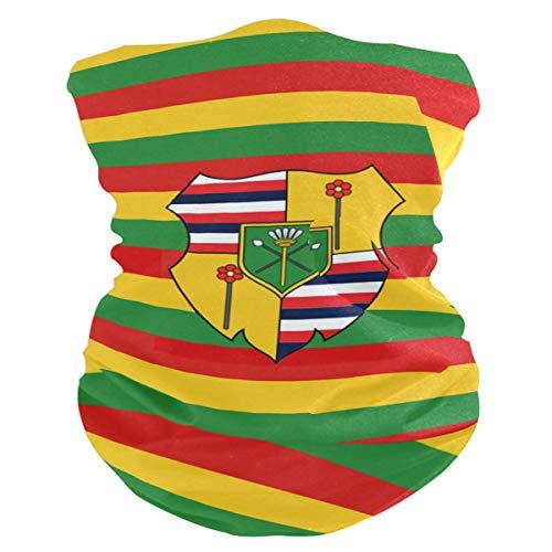 HFWDKJ-GS Flag of The Kingdom Hawaii Outdoor Multifunctional Magic Scarf, Head Wrap,Magic Scarf,Face Bandana Mask for Fishing, Hiking, Running,Sport & Casual Headband