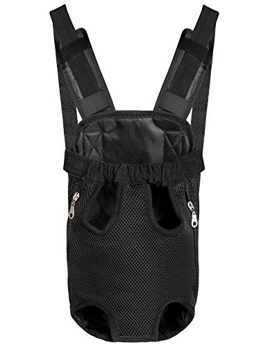 Dog Carrier Backpack, Hands-Free Adjustable Front Facing Chest Dog Backpack Carrier Pouch for Puppy Doggy Pet Dog