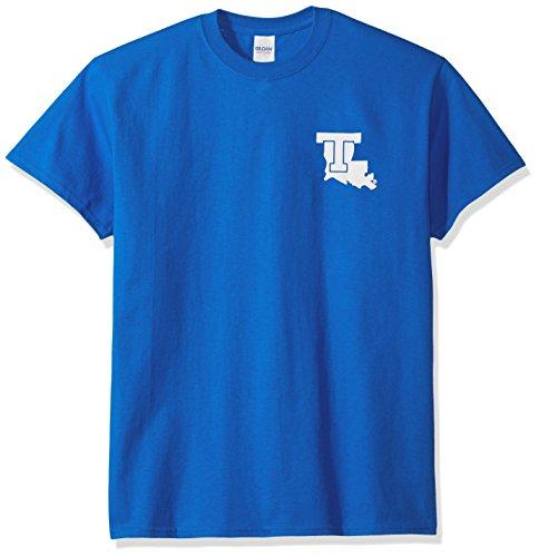 (NCAA Louisiana Tech Bulldogs Adult Stripe Nation Short sleeve, Large, Royal )