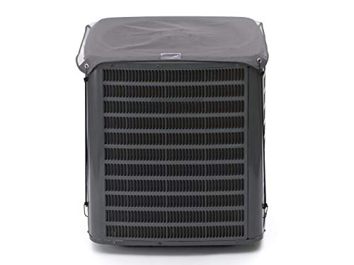Covermates - AC Mesh Top Cover - Fits 24 Width x 24 Depth - Elite - Tight Mesh Design Blocks Debris - Year-Round Protection - 3X Reinforced Corners - 3 YR Warranty - Water Resistant - Charcoal