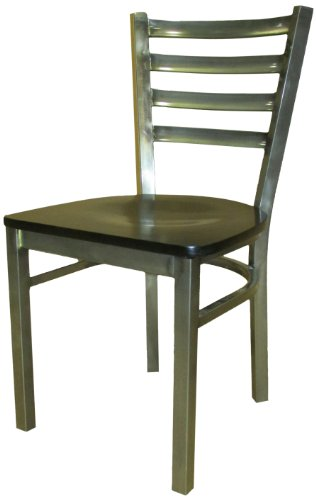 amazoncom oak street manufacturing sl135c wb metal frame clear coat dining chair with black wood seat 18 width x 32 38 height x 17 depth industrial