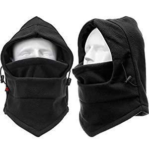 Boao 2 Pack Winter Ski Mask Balaclava Windproof Ski Mask Full Face Mask Neck Warmer Ear Protection Winter Sports Cap for Women Men Snowboard Cycling Camping Hunting Hiking Hat