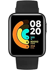 Xiaomi Mi Watch Lite Smartwatch Xiaomi wyświetlacz LCD TFT 1,4 cala do 9 dni autonomia przy jednym ładowaniu, monitorowanie 11 rodzajów sportów, czarny, włoska wersja