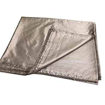 Image of Nano Silver Fiber EMF/RFID/EMI/RF Blocking Radiowave/Microwave Shielding Fabric Faraday Earthing/Grounding Healthy to Body-Washable and Soft 80x59 inch Home and Kitchen