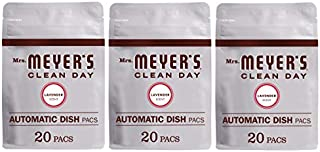 product image for Mrs. Meyer's Clean Day Automatic Dishwasher Pods, Cruelty Free Formula Dish Soap Tablets, Lavender Scent, 20 Count - Pack of 3 (60 Total Pods)