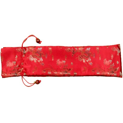 Protective Sleeve for Racks in Embroidered Red Silk Polye...