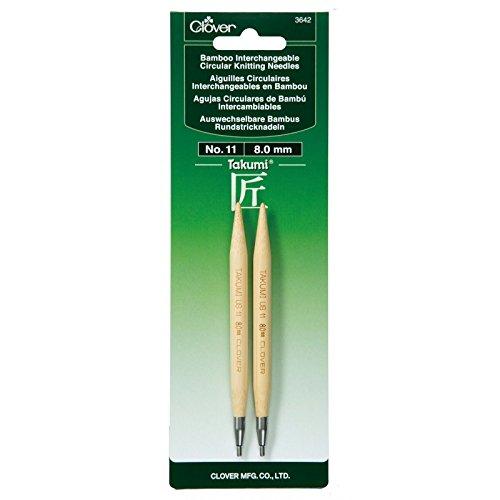 Aguja Circular Intercambiable Clover Takumi Bamboo  - 11