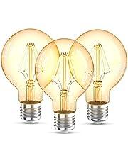 B.K.Licht G80 Edison Vintage gloeilamp I E27 I 4W I 2200K I 320lm I warme witte I LED gloeilamp I retro gloeilamp I gloeidraad