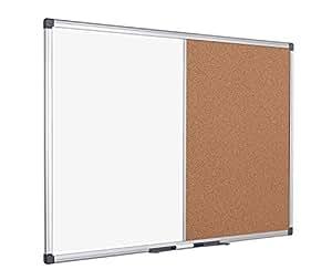 Bi-Office Maya - Tablero combinado corcho, 1200 x 900 mm