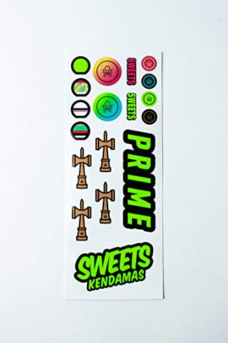 Sweets Kendamas Radar Prime Kendama - Sticky Paint, Perfect for Beginners, Extra String Accessory Bundle (Blue) by Sweets Kendamas (Image #4)