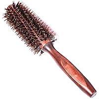 فرشاة شعر مستديرة بشعيرات الخنزير الطبيعية ومقبض مريح من الخشب الطبيعي مريح - FER002924