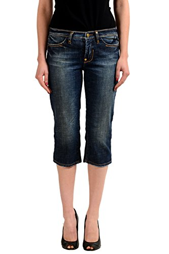 Gianfranco Ferre Embellished Denim Women's Skinny Cropped Jeans US 4 IT 40