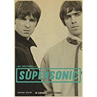 Oasis Liam Gallagher Nostalgia Retro Rock Band Music Kraft Paper Poster Bar Cafe Living Room Dining Room Decorative Paintings : A114, 30x21cm