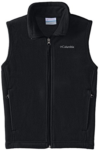 Columbia Big Boys' Steens Mountain Fleece Vest, Black, Medium -