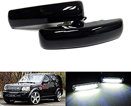 2/x nero affumicato lente indicatore laterale luci LED bianco ripetitore per LR Freelander 2/Discovery Series 3/4/RR sport