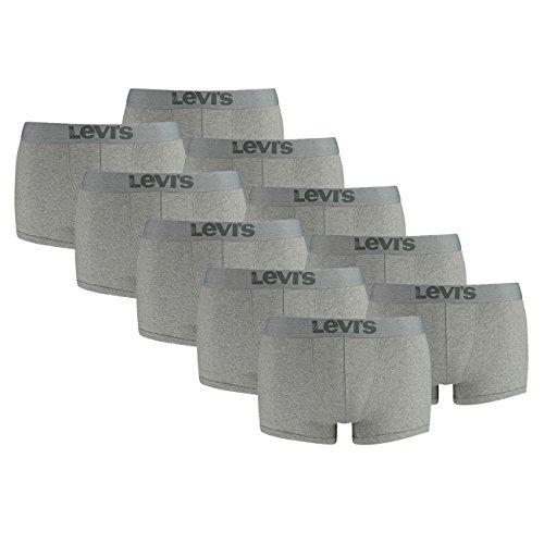 Middle Men Trunk Grey Boxer Pant 758 Underwear Mélange Levis Boxershorts 10 Er Pack wqgBTTZ