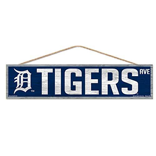 WinCraft MLB Detroit Tigers SignWood Avenue Design, Team Color, 4x17