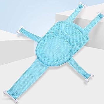 Portable Foldable Non-Slip Mat 2Krmstr Baby Bath Support Seat Soft Comfortable for Infant Brackets. Adjustable Baby Shower Cushion Bathtub Mat Seat