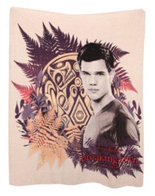 The Twilight Saga Breaking Dawn Jacob Black Tattoo Fleece Throw Blanket