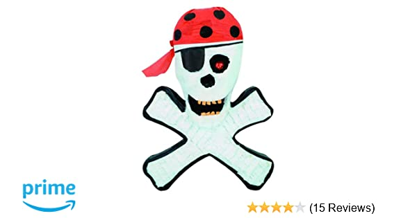 12 Cardboard Pirate Hats Skull Black Pinata Loot//Party Bag Fillers Paper