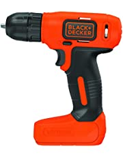 Black and Decker 7.2 V, Lithium-Ion Compact Cordless Drill, Red, BDCD8-B5