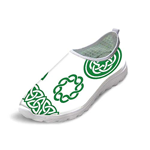TecBillion Irish Comfortable Running ShoesMedieval Ancient Knots Symbols Braided Design Religious Old Folkloric Gaelic for Men Boys,US 10