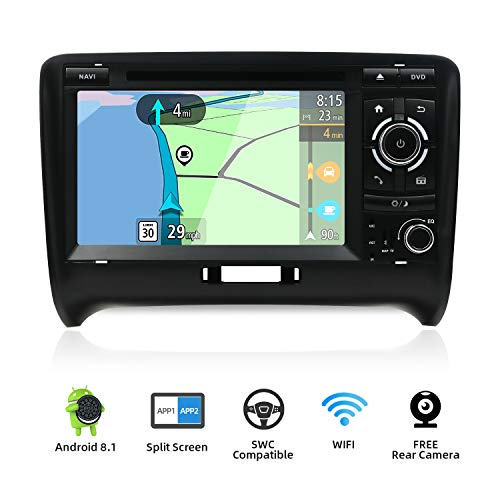 Double Din Car Stereo for Audi TT 2006-2011 Android 8.1 HD 7 inch 2G RAM+32G ROM Car Audio GPS Navigation Head Unit Support WiFi 4G Bluetooth Steering Wheel Google DAB OBD Free Backup Camera & Canbus ()