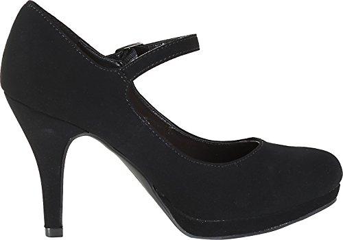 High Women's Jane Black Heel Comfort Classified Dennis City Mary vqSYwgT
