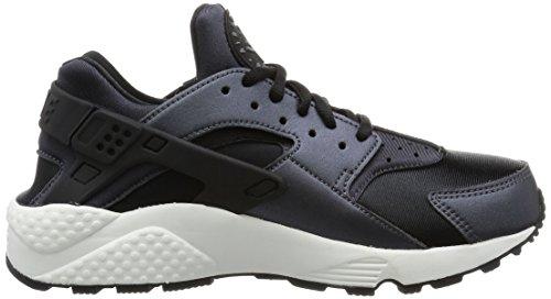 Nike Womens Air Huarache Run Formatori Sintetici Metallizzati Ematite Nero Grigio Scuro 001
