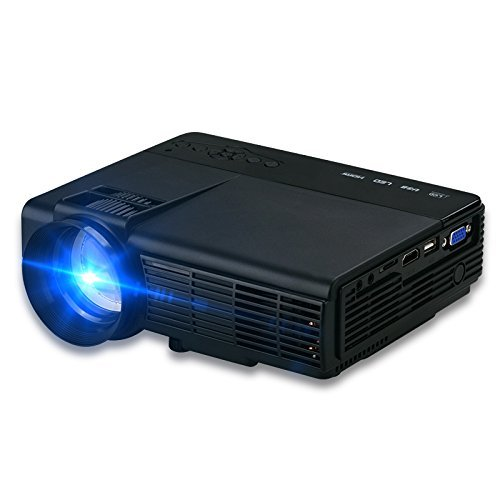 Video Projectors 2017 Updated Dinlly Mini Led Lcd Projector Full Hd Digital Portable Home Theater Multimedia Projectors Support Hd 1080P Pc Usb Hdmi Av Vga Dq5b