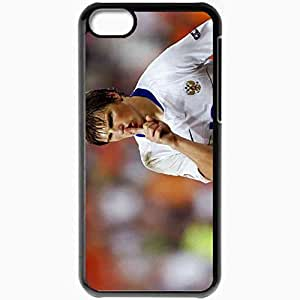 Personalized iPhone 5C Cell phone Case/Cover Skin Arshavin Russia Football Finger Lips Goal Black