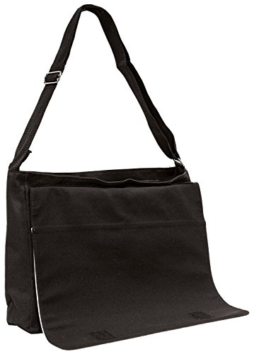 Cute Nanny Goat Large 16 Black School Laptop Shoulder Bag SLnseh3m