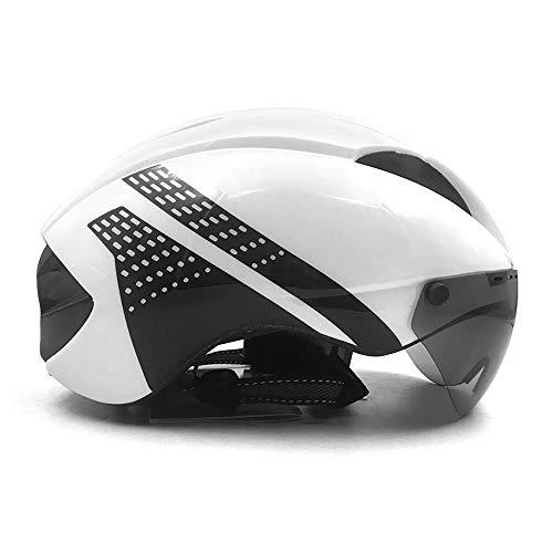 Helm HAOAYOU Aero helm tt tijdrit fietshelm voor heren dames bril race racefiets helm met lens