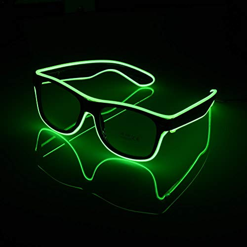 Red-eye EL Wire Neon Rave Glasses Flashing