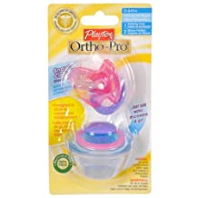 Playtex Playtex OrthoPro Silicone Newborn Pacifier with Sterilizing Cover, 2ct