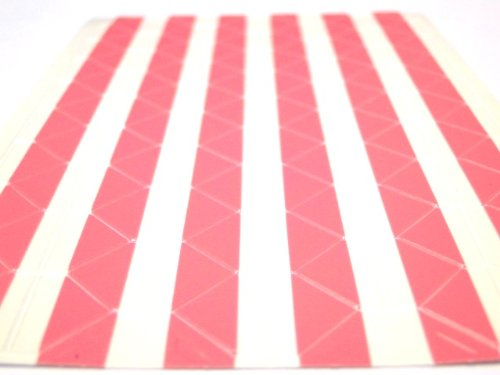 204 Pink Photo Corners Acid Free Coloured Transparent Plastic Clear 2 Sheets Habercrafts