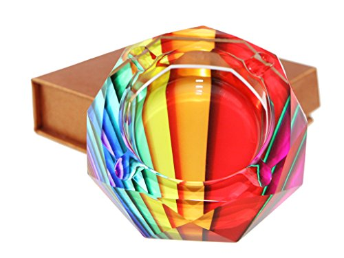 Apol Beautiful Octagon Crystal Glass Ashtrays 3.9