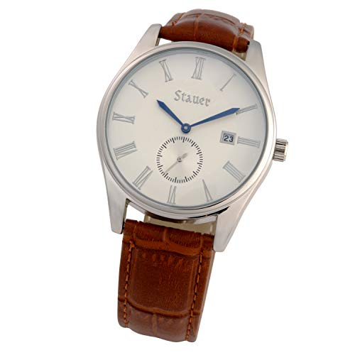 (Stauer Men's Marquis Watch with Brown Leather Band)